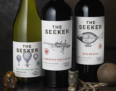 The Seeker Wines (Kobrand) Wine Logo & Packaging Design