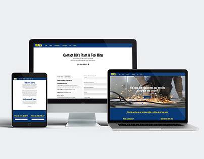 Web design | BO's Plant & tool hire