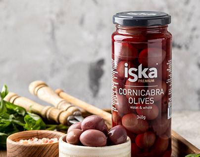 ISKA® olives / packaging design
