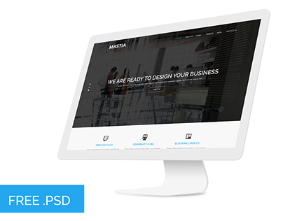 Mastia - Multipage psd web template free download