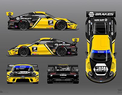 NAPA Brakes 2020 Porsche GT3 Livery by RPM-3D, Inc.