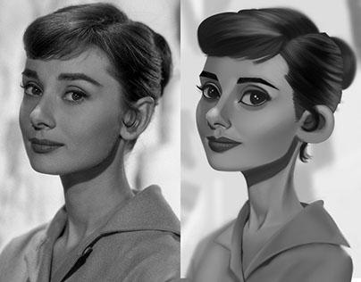 Audrey Hepburn! (Value Study)