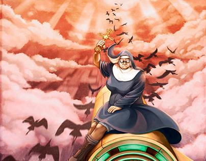 Nun on a falling bomb