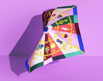 Deseda · Silk scarf