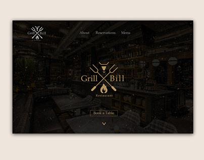 Grill Bill Website design