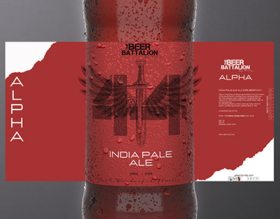 Beer Label Design With FREE MOCKUP PSD