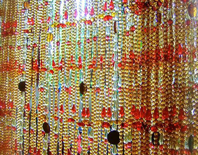 Red Leaf Champagne Acrylic Mesmerize Bead Curtain @ HK