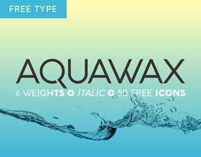 Aquawax Free Type and Icons Family