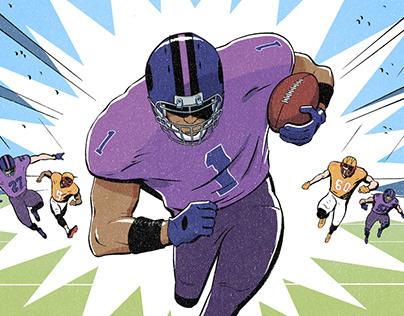 Mr. Porter Journal: NFL Fact Sheet Illustrations