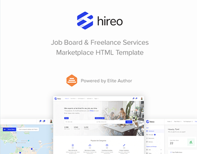 Hireo - Job Board & Freelance Services Marketplace HTML
