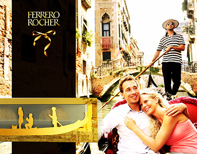 Creative work on the new packaging for FERRERO ROCHER