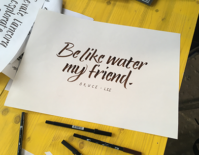 Be like water my friend
