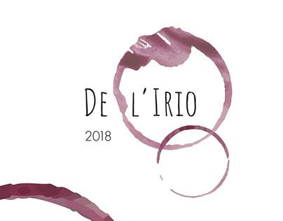 DE L'IRIO - etichetta per il vino