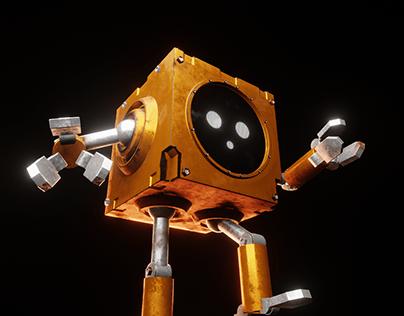 Apocalyptic world, lost little robot.