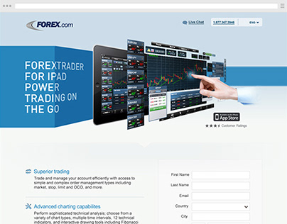 Forex for iPad (landing page design)