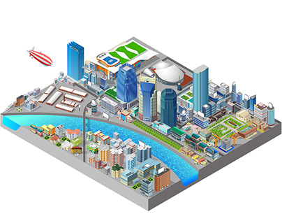 Isometric Illustration of Nashville