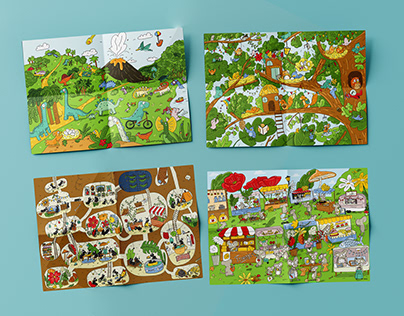 Illustrations pour un jeu Cherche et trouve