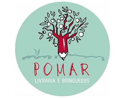 Logo for a childrens bookstore in Goiânia