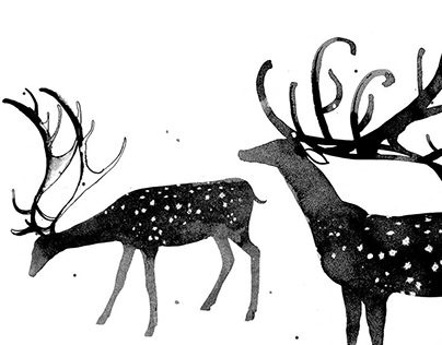 Illustrations for the poetry book about Taiga