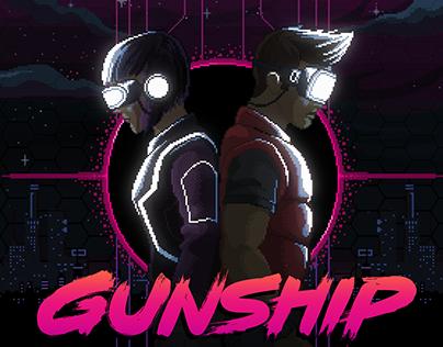 GUNSHIP's Art3mis & Parzival single cover artwork