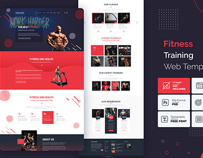 Fitness training website template
