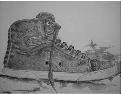 ilustraciones grafito y litografía