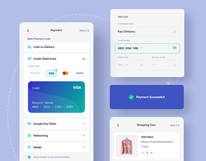 Credit Card Checkout App Design