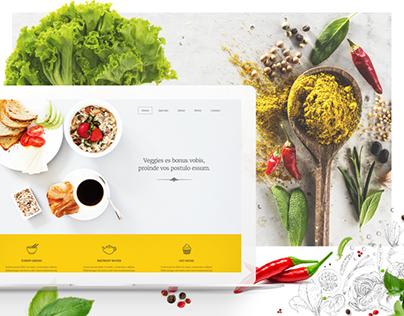 Veggie - free PSD & HTML template