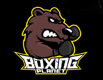 Boxing Planet - mascotte logo