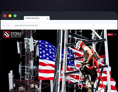 Landing page for USAtelecommunication company
