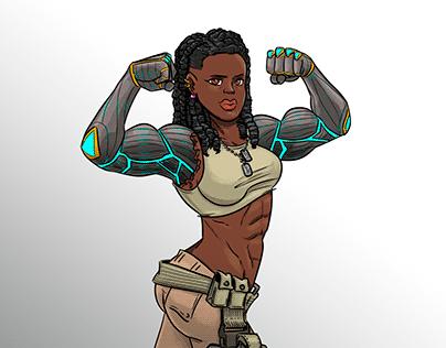 Gender Swapped Fighters: Jax from Mortal Kombat
