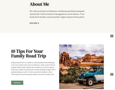 Personal blog website design | Landing page