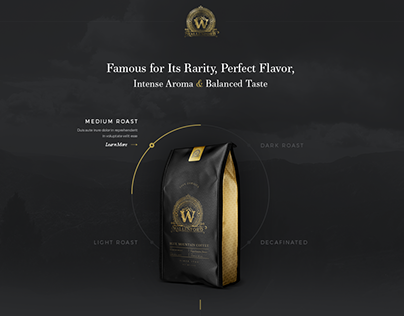 Interactive Website Design for a Coffee Company