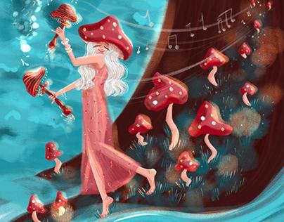 "Illustrations for tea packaging ""Nine magic maidens"""