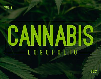 cannabis marijuana hemp weed cbd oil medical logo