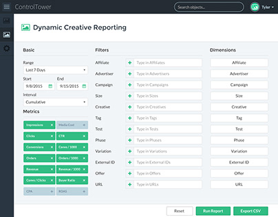 ControlTower Creative Report Builder