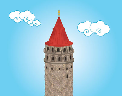 Galata towers illustrations