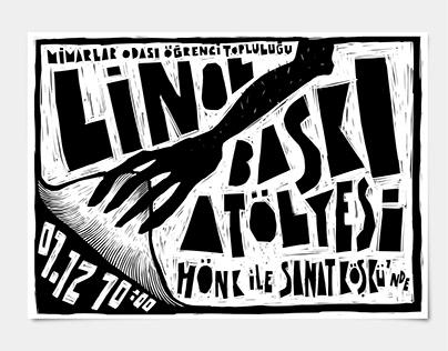 Linocut Workshop Poster