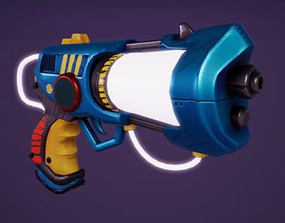 Stylized Gun 3d (Low Poly)