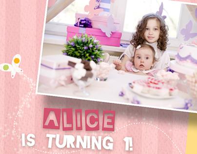 Birth Announcement- Baby Birthday album on Behance