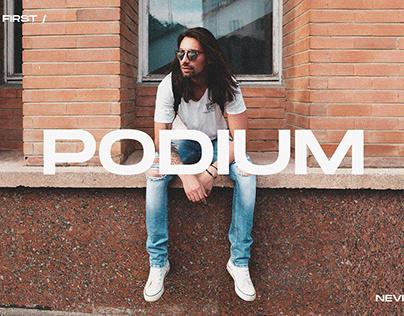 PODIUM INTERNATIONAL - Clothing Brand Identity