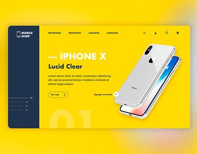 Landing page e-commerce Mobile.Shop