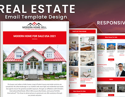 MailChimp real estate email template design.