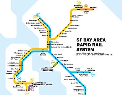 San Francisco Bay Area / commuter rail / transit map 2