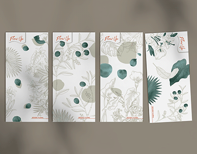 Identité de marque et illustration Fleuriste FlowUp