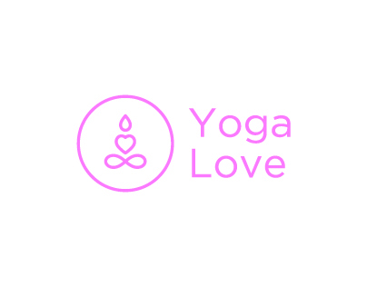 Yoga love brand identity
