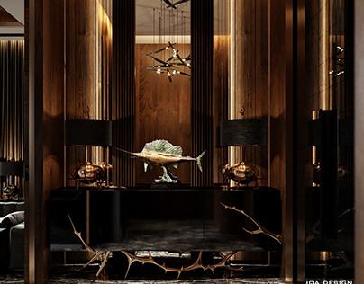 Some spaces of our interior design for villa in Dubai