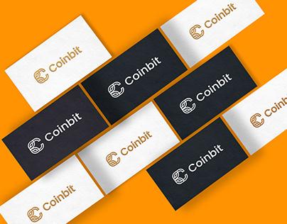 Coinbit logo design - CB letter logo for brand identity