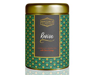 Packaging design for tea merchants, Bartleby's
