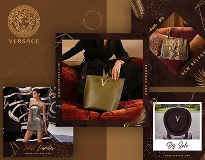Versace Social Media Redesign